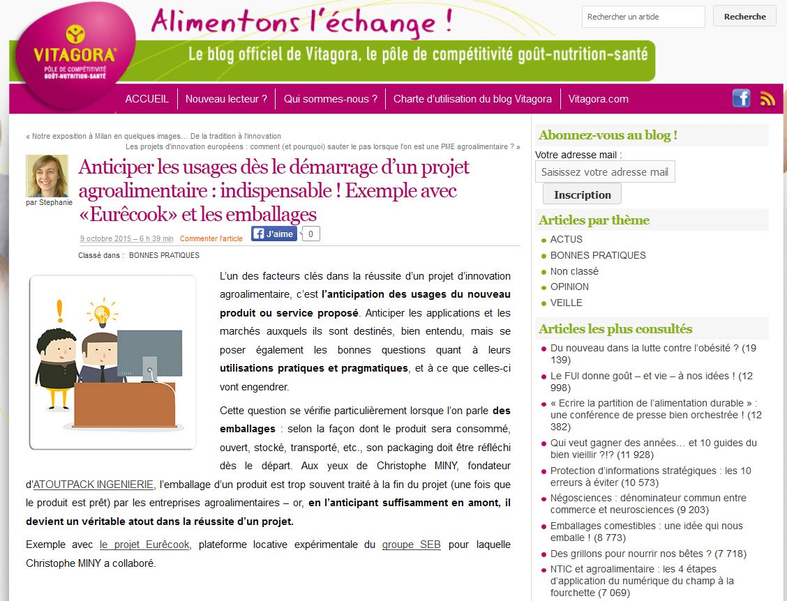 Conception d'emballages agroalimentaires