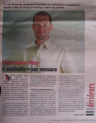 Christophe Miny ''emballe'' sur mesure