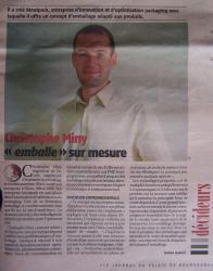 Christophe Miny ''emballe'' sur mesure