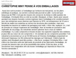 Christophe Miny pense à vos emballages